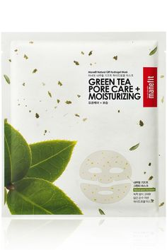 Manefit Natural Gift Green Tea Pore Care Sheet Mask Powered by antioxidants and whole green tea leaves, the hydrogel mask is fantastic for hydrating and soothing acne-prone skin.