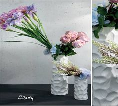 """Dos composiciones """"gráficas"""" marcando muy bien las líneas y los pesos de las flores y colores en las dos composiciones que son un todo"""