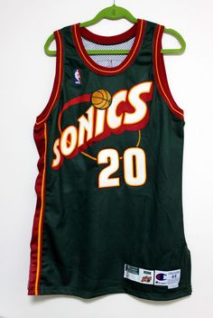 gary payton signed 1998-99 champion nba supersonics game used road jersey  sonics from $999.0