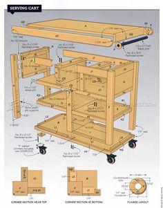 Serving Cart Plans - Furniture Plans