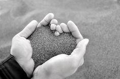 sand hearts;