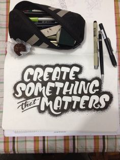 Create Something that Matters by Marcelo P. on Behance Calligraphy Letters, Typography Letters, Typography Design, Great Fonts, Cool Fonts, Brush Lettering, Hand Lettering, Typography Inspiration, Design Inspiration