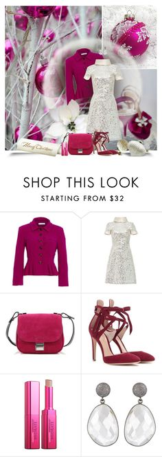 """Merry Christmas"" by anna-survillo ❤ liked on Polyvore featuring Poesia, Oscar de la Renta, Naeem Khan, Proenza Schouler, Gianvito Rossi and Amazing Cosmetics"