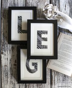 DIY Washi Tape Monograms by lia griffith | Kollabora