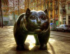 Le Chat de Botero à Barcelone