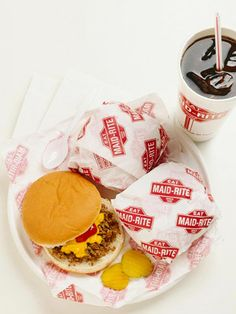 Loose meat sandwich..yum yum yum..nothing like a maid-rite!  My Aunt Kathryn Herman Holst owned and operated the little Maid-Rite in Belle Plaine, IA before it closed down.  Used to buy penny candy there when I was a child while staying with my cousins.