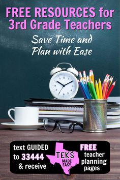 You know how teaching is - busy AND rewarding.  Imagine being able to finish lesson plans during the school day and go home after dismissal.  With these free printable #3rdgrade math #lessonplan #templates, you can!  Ordered #TEKS help your guided #math lesson planning take less time. Track students target goals for each unit in an #organized binder.  Get unit plans for the whole year in the #freebie library. For more lessons, #games and #activities, visit ipohlyinc.com! Library Lesson Plans, Library Skills, Math Classroom, Classroom Activities, Help Teaching, Teaching Resources, 3rd Grade Math Worksheets, Teaching Multiplication, 3d Figures