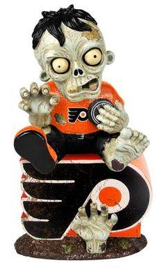 Philadelphia Flyers Zombie Figurine - On Logo #PhiladelphiaFlyers