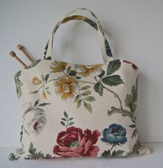 Craft Accessories, Knitted Bags, Uk Shop, Vintage Floral, Reusable Tote Bags, Knitting, Handmade, Crafts, Etsy