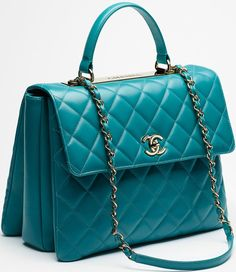 Option? - Chanel reintroduced the Trendy CC Tote for the Cruise 2015 Collection. This bag is d…