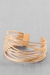 Arlington Crossed Wires Cuff