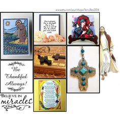 Catholic Art on Etsy by TerryTiles2014 - Volume 24 by terrytiles2014 on Polyvore featuring interior, interiors, interior design, Casa, home decor and interior decorating