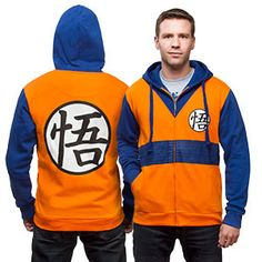 Full-zip costume hoodie features the iconic look of Goku's orange gi and blue shirt from Dragon Ball Z. You are the Super Saiyan!