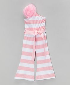 Pink & White Stripe Jumpsuit - Infant, Toddler & Girls by Blossom Couture #zulily #zulilyfinds