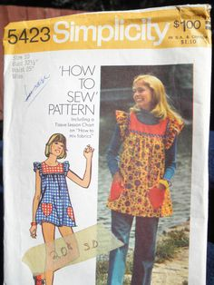 smock top  what girl in the 70's didn't have this pattern?