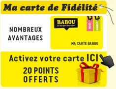 WWW.BABOU.FR - Rubrique Carte de Fidélité