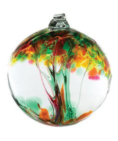 This Yellow 6'' Kitras Tree of Healing Ornament by Kitras Art Glass is perfect! #zulilyfinds