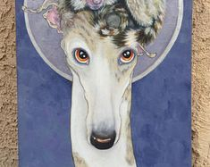 Italian Greyhound art, Greyhound art, whippet art, courtsart