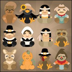 Autumn Cuddly Friends SVG Collection - SVG Files for Sure Cuts A Lot - bjl