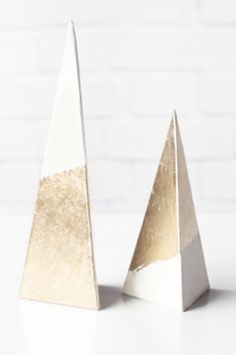 Gold Foil-Dipped paper trees