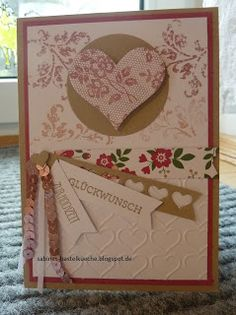 Stampin up, Hochzeitskarte, Herzblatt, Timeless Textures sabines-bastelkueche.blogspot.de Stampin Up, Frame, Home Decor, Card Wedding, Surface Finish, Homemade, Homemade Home Decor, A Frame, Frames