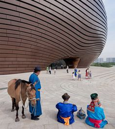 Congratulations to MAD architects on winning the WAN Metal in Architecture Award for their Ordos Museum in Inner Mongolia, China. Six shortlisted entries were discussed and assessed in great detail, and this futuristic design stood Art Et Architecture, Cabinet D Architecture, Amazing Architecture, Contemporary Architecture, Architecture Details, Parametric Architecture, Interesting Buildings, Beautiful Buildings, Modern Buildings
