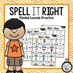 Spell it Right is designed to provide students with extra practice on medial sounds.