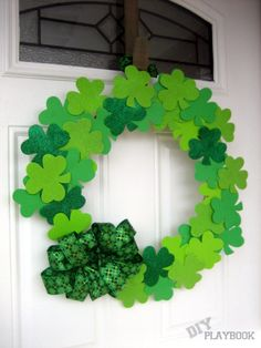 I visited the dollar store to find all of the supplies I need for a wreath for St. Patrick's Day.