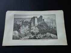 Alhambra palace Granada 1839 small antique by DecorativePrints