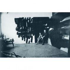 Colette & // Pierre Soulages // in their atelier rue Galande, Paris 1964