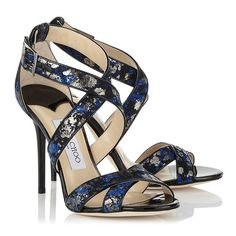 Aegean Metallic Lace on Suede Sandals | Lottie | Autumn Winter 14 | JIMMY CHOO Shoes