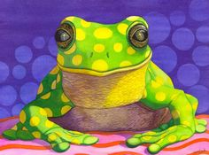 Spotted Frog Painting by Catherine G McElroy - Spotted Frog Fine Art Prints and Posters for Sale