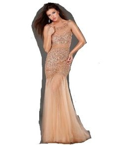Jovani 171100 Rose/Gold Floor Length Evening Gown Prom Dress Formal 0 New    Price:$790.00