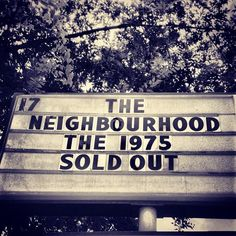 The Neighbourhood w/ The 1975 in Atlanta, Georgia omg i wishhh Nirvana, Jesse Rutherford, Marina And The Diamonds, Soundtrack To My Life, The 1975, Wipe Out, Arctic Monkeys, Bastille, Found Out