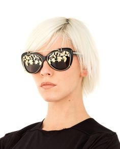 dd960a72b4d LINDA FARROW Matthew Williamson by Linda Farrow sunglasses with oval frame  smoke lenses removable front mask