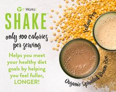 metabolism! That's the power of plant-based protein in It Works! Shake!  The plant-based It Works! Shake is easy on your digestive system with no uncomfortable side effects or worries about hormones, antibiotics, or lactose—just clean, satisfying protein that crushes cravings to help you feel fuller longer!