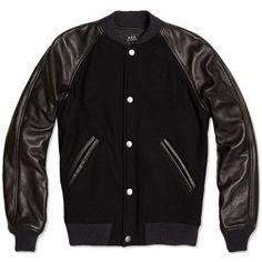 big sale ba783 82b84 A.P.C. Kenickie Teddy Jacket (Black) Ysl, Svart Läder, Modetrender