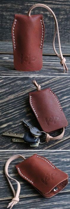 Leather key case holder bag keychain key organizer leather key wallet gift for . - Leather key case holder bag keychain key organizer leather key wallet gift for …, - Crea Cuir, Leather Key Case, Leather Key Holder, Key Wallet, Key Pouch, Key Bag, Diy Accessoires, Key Organizer, Leather Bracelets