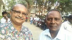 Gopalan with his close friend Vincent