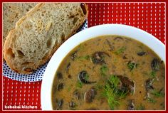 "Kahakai Kitchen: Hungarian Mushroom Soup From ""The Vegan Slow Cooker"" for Souper (Soup, Salad & Sammie) Sundays Raw Food Recipes, Soup Recipes, Vegetarian Recipes, Cooking Recipes, Healthy Recipes, Crockpot Recipes, Vegan Slow Cooker, Slow Cooker Soup, Hungarian Mushroom Soup"
