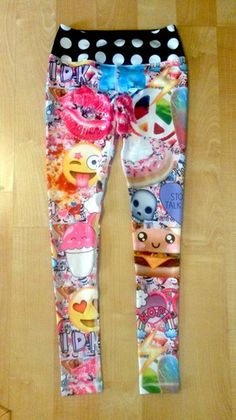 Random Art yoga leggings by Berry Jane