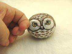 Painted-rocks-brown-owl-woodland