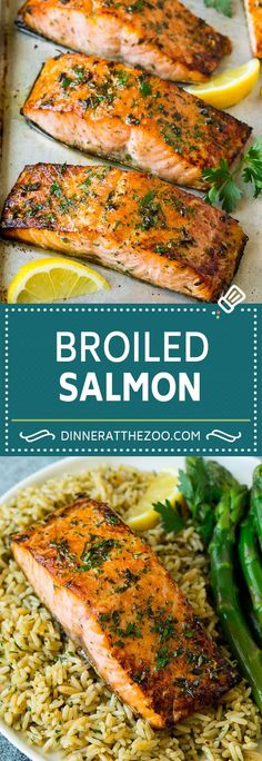 broiled-salmon-recipe-healthy-salmon-recipe-salmon-garlic-seafood-dinner/ - The world's most private search engine Salmon Dinner, Seafood Dinner, Cook Dinner, Healthy Salmon Recipes, Yummy Salmon Recipe, Recipe Using Salmon, Healthiest Seafood, Fish Dishes, Cookies Et Biscuits