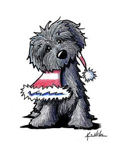 christmas drawings Bouvier Des Flandres Puppy Drawing by Kim Niles - christmas drawings Bouvier Des Flandres Puppy Drawing by Kim Niles - Watercolor Christmas Cards, Christmas Drawing, Christmas Paintings, Christmas Dog, Xmas Drawing, Animal Drawings, Cute Drawings, Puppy Drawing, Dog Books