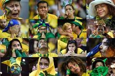 Sads X 16 in Brazil, after their team suffered a historic beatdown on their home turf against Germany, by allowing 5 goals in 30 minutes, and losing 7-1 in the 2014 FIFA World Cup. (Sorry, guys. You'll always have the next Summer Olympics and gorgeous supermodels.)