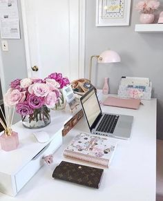 office office space office ideas home home decor home office home office d Home Office Design, Home Office Decor, Decorating Office, Office Ideas, Decorating Ideas, Decor Ideas, Office Designs, Feminine Office Decor, Work Desk Decor