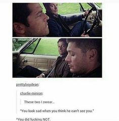 I had to because it's a Sherlock quote with a supernatural post! Supernatural Angels, Supernatural Wallpaper, Supernatural Tv Show, Supernatural Destiel, Castiel, Spn Memes, Best Crossover, Sherlock Quotes, Super Natural