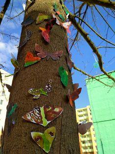 Kde se můry přes den skrývají | Výtvarná výchova : malbou maskovat můry tak, aby následně splynuly spřírodním prostředím (malba anilinovými barvami, land-art)