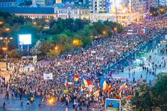Bucharest - Thousands of Romanians protest against cyanide gold mining in Rosia Montana. Well done! City People, Bucharest, Romania, Montana, Past, Times Square, Dolores Park, The Unit, Drum