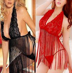 Womens Lingerie Nightwear Underwear Babydoll Sleepwear Dress G-String Set Hot